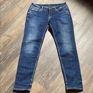Women's Silver Boyfriend Jeans Sz 31/29
